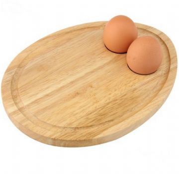 Breakfast Board Egg Cup Holders Shaped Serving Tray Toast